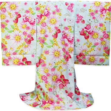 女児 祝い着 初着 SEIKO MATSUDA kimono KIDS 松田聖子 スカイ お宮参りのきもの産着/のしめ/一つ身/祝着/百日参りの着物/百日祝い/七五三【あす楽対応_関東】