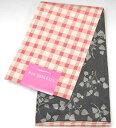 浴衣小袋帯 押切もえ 格子赤×花黒 半幅帯 半巾 ゆかた帯