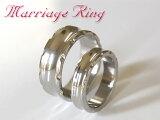 チタンマリッジリング・曲線へこみ形状・鏡面仕上げ・角飾りカット・7mm幅と5mm幅・結婚指輪・マリッジリング・ウェディングリング・エタニティリング・アニバーサリーリング