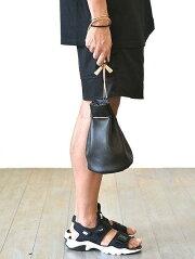 CROSSEDARROWS(クロッシードアローズ)牛革本革巾着バッグレザーバッグユニセックス人気カジュアル日本製