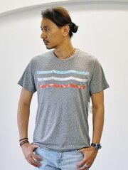 Sol Angeles  VINTAGE WAVES CREW GREY ソルエンジェルス メンズ サーフ ビンテージ ウェーブ クルーネック Tシャツ グレー