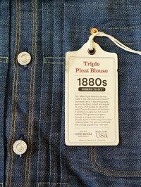 LEVI'S VINTAGE CLOTHING リーバイス ヴィンテージクロージング 1880  Triple Pleat Blouse  Limited production brand new    トリプルプレートブラウス 復刻デザイン 限定品 インディゴ セルビッチデニム アメリカ製 ジージャン