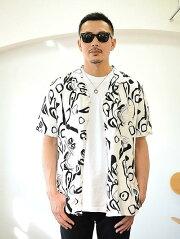 ZANEROBE WES BLOC SS SHIRT MILK ゼインローブ オーストラリア輸入 プリントシャツ モノトーン 白地 大きめシャツ メンズ半袖シャツ アロハシャツ