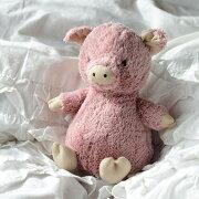 JellycatPigMサイズジェリーキャット日本もふもふブタぬいぐるみ大人女子ギフト癒しプレゼントお祝い出産祝い誕生日最高級縫いぐるみソフトドールふわふわピンクの子豚正規代理店輸入品ぶた