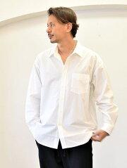 SALUTEHELM大きめゆっくりオーバーサイズシャツメンズ白シャツ日本製