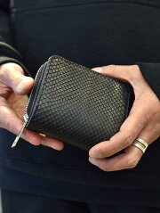 KATSUYUKIKODAMAリアルパイソンスモールウォレットヘビ革本革小さめ財布メンズ財布日本製無料ラッピングギフト