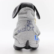 (ペアS犬用)DOG用UCLA公認DOG&MEペアルックスェットパーカーカレッジ飼い主とお揃いドッグウェアー犬用服グレー色人気ブランド散歩ドッグウェアー