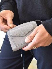 BRICKTOKYOブリックマルチケーススモールウォレットグレー色小さめ財布名刺入れユニセックス東京日本製ハンドメイト