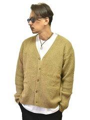 CAL O LINE  キャロラインモヘアカーディガン キャメル ニット カーディガン 無地 シンプル 暖かい メンズセーター