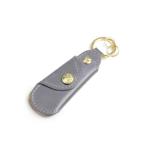 Glenroyal Pocket shoe horn with key ring 03-5802 Gray full bridle leather New color Limited color