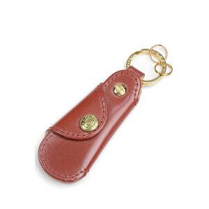 Glenroyal Pocket shoe horn with key ring 03-5802 Bordeaux full bridle leather&buffalo horn