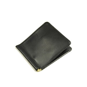 Glenroyal GLENROYAL Small Money Clip Extra Thin 03-5930 New Black Bridle Leather