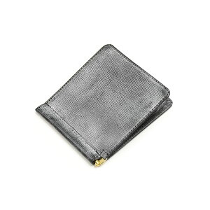 Glenroyal GLENROYAL Small Money Clip Embossed 03-5930 New Black Lakeland Bridle Leather
