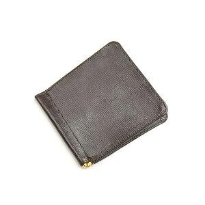 Glenroyal GLENROYAL Small Money Clip Embossed 03-5930 Cigar Lakeland Bridle Leather