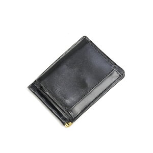 Glenroyal Money Clip with Coin Purse 03-6164 New Black Full Bridle Leather Long-selling model