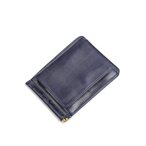 Glenroyal Money Clip with Coin Purse 03-6164 Dark Blue Full Bridle Leather Long-selling model