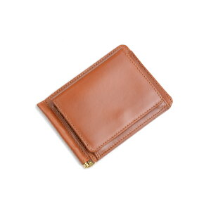 Glenroyal Money Clip with Coin Coin 03-6164 Oxford Tan Tan Full Leather Long Long Model