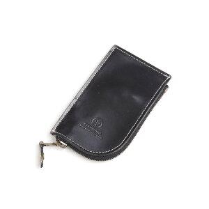 حقيبة غلين رويال دائرية بسحاب مفتاح 03-5212 جلد لجام كامل أسود جديد