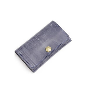 Glen Royal Card Case Business Card Holder 03-6131 Full Bridle Leather Dark Blue