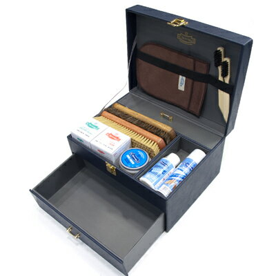 新発売 M.モゥブレィ シューケア グランブルーセット 基本ケア用品17点の本格派セット レザー張り(合革) 黒/M.MOWBRAY SHOES CARE GRANBLUE SET BLACK