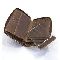 セトラー(SETTLER)WHCのセカンドラインワンワールドコレクションヌバックタイプオイルドレザーow2534ジップラウンドウオレット(ZIPROUNDWALLET)BROWN(ブラウン)