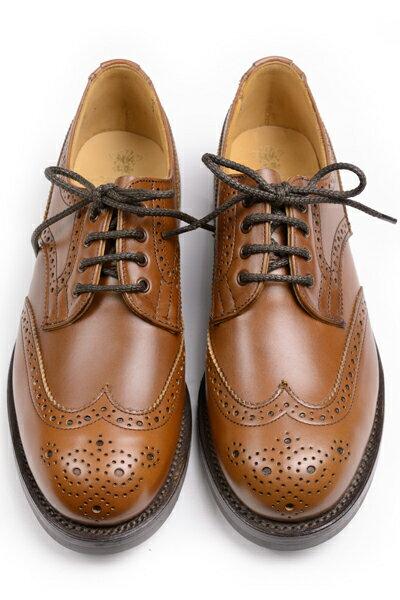 トリッカーズ レディースコレクション L5679 アン ウイングチップ短靴 ダービーシューズ ビーチナットアンティークカーフ ダイナイトソール