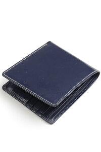 ホワイトハウスコックス Whitehouse Cox s8772 ノートケース ネイビー ブライドルレザー 小銭入れ無し二つ折り財布