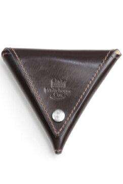 ホワイトハウスコックス WHITEHOUSE COX s1902 三角形小銭入れ ハバナ ブライドルレザー ワンピース革コインケース 折畳みボタン止