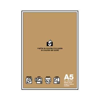 A5用紙 フリーペーパー 50シート クラフト BASIS a5ペーパー シンプル 公式通販サイト画像