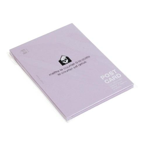 ポストカード カラー 無地 50枚 リンドウ PASTEL パステルカラー シンプル 公式通販サイト画像