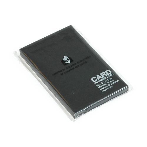 カード 名刺サイズ 無地 40枚 ブラック BLACK シンプル 公式通販サイト画像