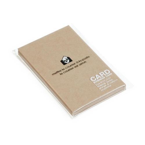 カード 名刺サイズ 無地 40枚 クラフト BASIS シンプル 公式通販サイト画像
