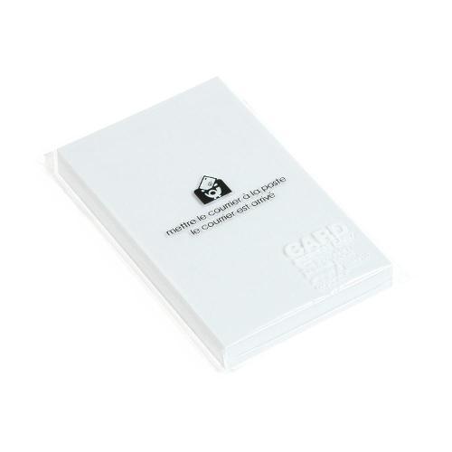 カード 名刺サイズ 無地 50枚 ホワイト PASTEL シンプル 公式通販サイト画像