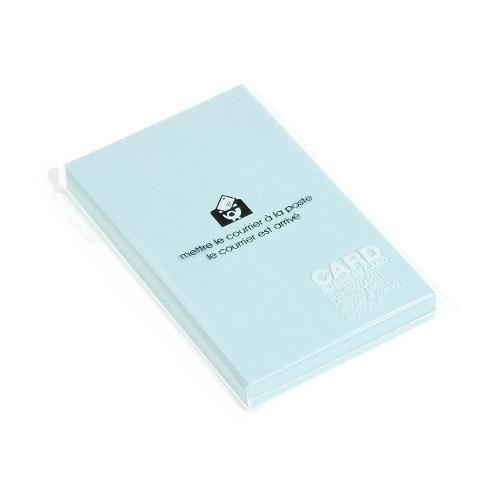 カード 名刺サイズ 無地 50枚 ミズ PASTEL シンプル 公式通販サイト画像