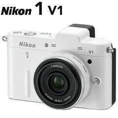 【送料無料】在庫あり 翌営業日出荷Nikon 1 V1 薄型レンズキット ホワイト