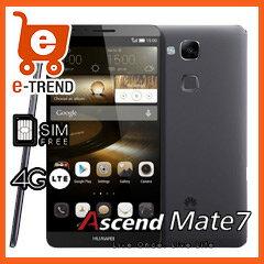 【送料無料】在庫あり【送料無料】【SIMフリー】【LTE】ASCEND Mate7/Black(51092037)[ And4.4/...