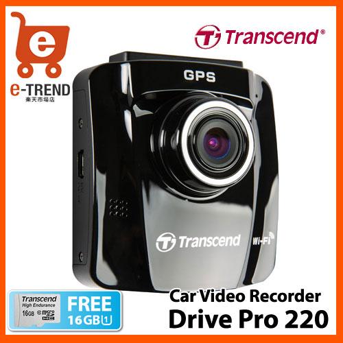 トランセンド TS16GDP220M-J [DrivePro 220 GPS/Wi-Fi/バッテリー搭載ドライブレコー...