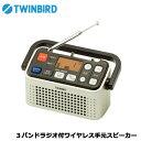 【送料無料】TWINBIRD(ツインバード) AV-J135G [3バンドラジオ付ワイヤレス手元スピーカー]
