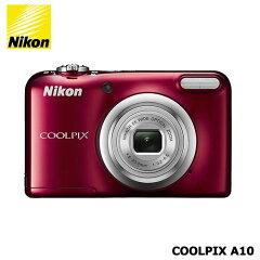 【送料無料】Nikon(ニコン)/COOLPIXA10RD[光学5倍ズーム1614万画素レッド]