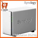 【送料無料】SynologyDS216j[DiskStation2ベイNASデュアルコアCPUSATA対応]
