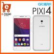 【送料無料】alcatel PIXI 4 Metal Silver [5045F-2EALJP1]【SIMフリー Android スマートフォン】