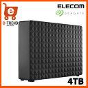 【送料無料】エレコム(Seagate) 1TFAN3 [USB3.0 外付けハードディスク パソコン テレビ録画 家電対応 4TB Expansion Desktop]