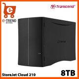 【送料無料】トランセンドTS8TSJC210K[8TB(4TBx2)パーソナルクラウドストレージStoreJetCloud210]【NAS】