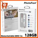 楽天PhotoFast GEN3LC128G-RED [128GBメモリ内蔵 Lightningケーブル MemoriesCable GEN3 1m レッド Mfi認証 iPhone/iPad]