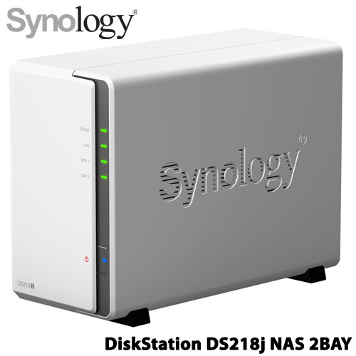 DS218j [DiskStation 2ベイ NAS デュアルコアCPU 512MBメモリ SATA対応]