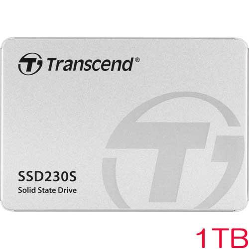 トランセンドTS1TSSD230S 1TBSSD230シリーズ2.5インチSATA33DTLC搭載アルミ筐体