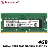 トランセンドJM2666HSH-4G[4GBJetRamDDR42666SO-DIMM1Rx8(512Mx8)CL191.2V]