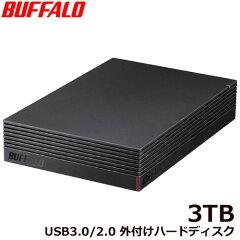 バッファローHD-NRLD3.0U3-BA[USB3.1/USB3.0/USB2.0外付けHDDPC用&TV録画用静音&防振&放熱設計日本製3TB]