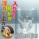 えつすいで買える「(全品5%還元 飲み物を入れるとドクロが浮かび上がるダブルウォールグラス 常温」の画像です。価格は1円になります。