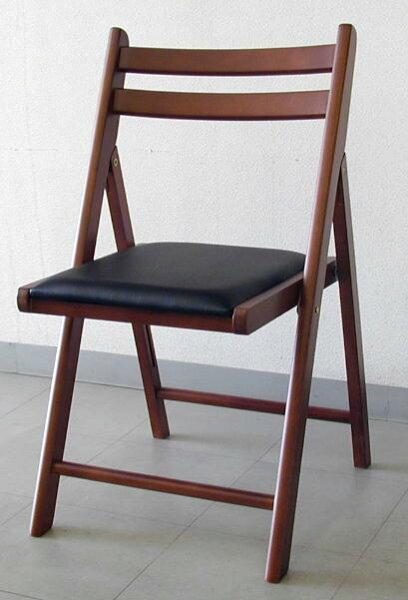 木製折りたたみ椅子レザー座ダークブラウン5.0kg NO.368Dブラウン